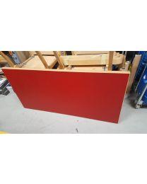 Vanha Artek 81A pöytä, punainen, holkkijalat