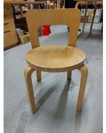 Artek N65 tuolit, koivu, 4 kpl
