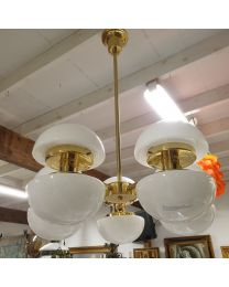 Orno Bau-sarjan 10-lamppuinen kattovalaisin, design: Klaus Michalik