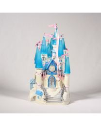 Huikea vintage Disney-tuote, Tuhkimon Linna, äänet ja valot toimivat, iso joukko hahmoja tulee mukana